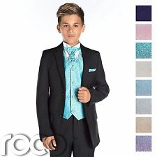 Boys Black Wedding Suit, Page Boy Suit, Boys Formal Suit, Black Suit