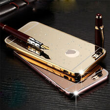 Luxury Aluminum Ultra-thin Mirror Metal Case Cover for iPhone 5 5S 6 4.7& 6 Plus