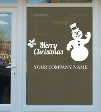 PERSONALISED SNOWMAN WALL STICKER decal vinyl merry christmas xmas art holly