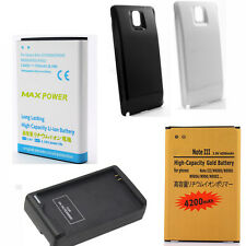 4200mAh 7500mAh Extended Li-ion Phone Battery Fr Samsung Galaxy Note 3 III N9000