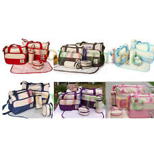 5PC Multi Function Super Large Baby Diaper Tote Waterproof Shoulder Bag6 Colors