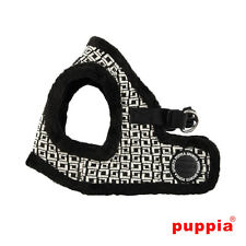Dog Puppy Harness Soft Vest- Puppia - Damier - Black - Choose Size