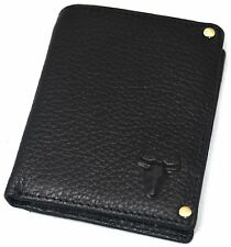 Men's Leather Wallet Credit Card Slot Purse ID Photo Holders Zippered Pocket