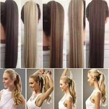 US Clip In Hair Extension Natural Ponytail Wrap Around Pony Tail Halloween Shown