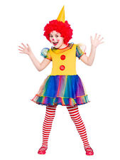 Child Girls Cute Clown Costume Kids Circus Fancy Dress Outfit Ages 3-10 Years