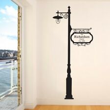 PERSONALISED FAMILY WALL STICKERS vinyl decal lamp post name date transfer art