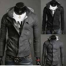 New Fashion Mens Slim Fit Sexy Top Designed Hoodies Jackets Coats 2 Color 4 Size