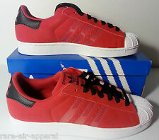 ADIDAS SUPERSTAR II/2 RED/BLACK/WHITE mens SUEDE SHELLTOES SHOES
