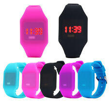 Mens Womens Silicone LED Watch Sports Bracelet Digital Waterproof Wrist Watches