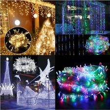 Waterproof 10M/20M 100/200LED Bulbs Christmas Fairy Party Outdoor String Lights