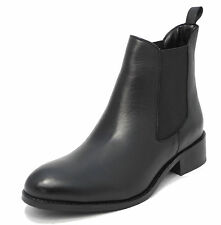 Womens Ladies Mod Comfys Nappa Leather Chelsea Ankle Boots Black 3 4 5 6 7 8 9
