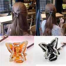 Elegant Women Butterfly Crystal  Claw Hairpin  Hair Clamp Accessory Clip TR50