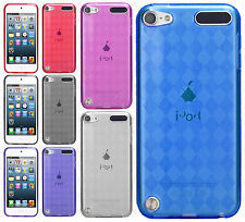 For iPod Touch 5th 6th Gen TPU CANDY Gel Flexi Skin Plaid Case Phone Cover