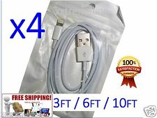 4X 6FT 10FT USB Cable Data Sync Charger Cord for iPhone 5 5S 6 6S Plus SEALED