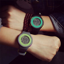 Unisex sport Digital watch LED Light Date Silicone Sports Wrist Watch great gift