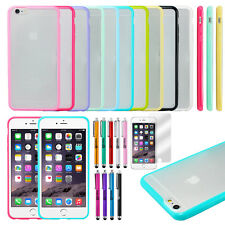 TPU Ultra Thin Bumper Case Clear Hard Frame Cover For Apple iPhone 6 6S Plus 5.5