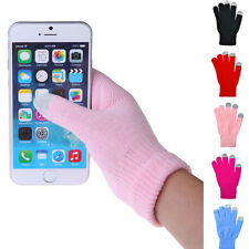 Woman/Man Knitted Gloves Hand Wrist Warmer Finger Winter Touch Screen Gloves