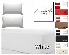 Annabelle Home Percale Fitted Valance Sheet, Non iron, High Thread Count Sheets