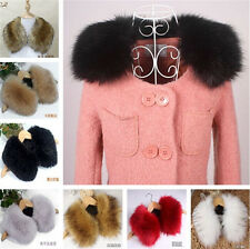 Women Fur Collar Faux Rabbit/Raccoon/Fox Fur Collar Scarf Shawl Wrap Stole Cape