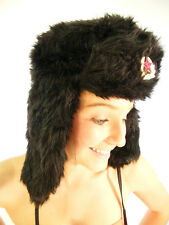 Campbell Cooper New Aviator Pilot Russian Trapper Hat Faux Fur Black S M L