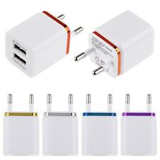 3.1A Dual USB Port Wall Home Travel AC Charger Adapter For Samsung HTC EU Plug