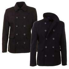 Lambretta  Pea Coat  Reefer Jacket Mens High Quality Wool Blend US Navy Style