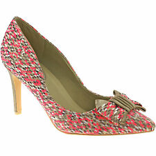 LADIES RUBY SHOO JENNA CORAL BOW SHOES VINTAGE INSPIRED RETRO POINTED SHOES