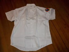 NOS Vintage Lion Apparel Work Uniform Blue Collar Short Sleeve White Shirt USA