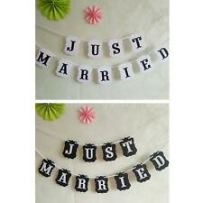 JUST MARRIED Bunting Wedding Garlands for Party Garland Banner Photo Props EH97