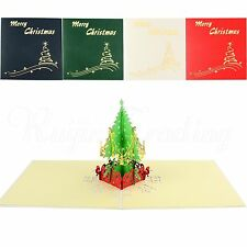 Holiday Greeting 3D Pop Up Cards Christmas Tree Thansgiving Vintage Card Gift