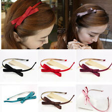 Girl Women Cute Bowknot Hairband Headband Thin Hair Hoop Bow Hair Accessory