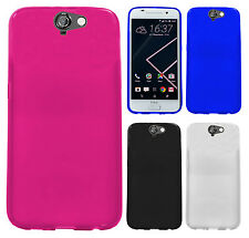 For HTC One A9 TPU CANDY Gel Flexi Skin Case Phone Cover Accessory +Screen Guard
