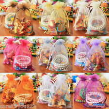 100Pcs Sheer Organza Jewelry Candy  Pouch XMAS Wedding Favor Gift Bag Decor New