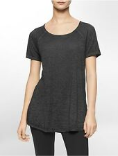 calvin klein womens performance solid short sleeve top