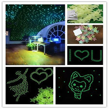 100Pcs Home Wall Sticker Home Decor Glow In The Dark Star Decal Baby Kids Room