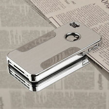 LUXURY BRUSHED ALUMINIUM CHROME SILVER PHONE CASE COVER IPHONE 4/4s/5/5s/6/6plus