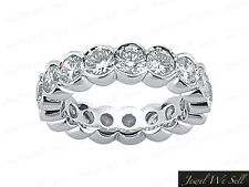 1.75Ct Round Brilliant Cut Diamond Half Bezel Eternity Band Ring 14K Gold G SI1