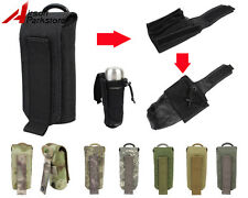 1000D Molle Tactical Folded Mesh Water Bottle Pouch Outdoor Kettle Carrier Bag
