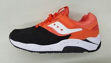 Saucony Grid 9000 Orange White Black Mens Retro Running Shoes S70077-36 1703-94