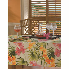 Tommy Bahama Linen Blend African Orchid Tablecloth