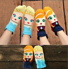 1Pair Womens Fashion Casual Warm Ankle Socks Cotton 3D Printed Multi-Color Socks