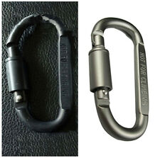 Outdoor Aluminum D-Ring Screw Locking Carabiner Hook Clip Key Chain Quality EPS