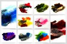 Marabou & Guinea Feathers - per pack of 18 (12229-M)