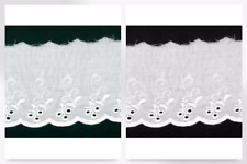 Broderie Anglaise Lace Trimming - per 54 metre roll (DC24020-M(P))