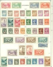 FRENCH ANDORRA : Nice Mint & Used collection on Old Time album page. Cat $301.00