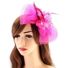 Hair Clip Fascinator Feather Beads Mesh Flower Bowknot Organza Net Accessories