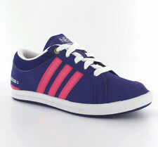 Adidas BB Neo Skool Lo Purple Smart Casual Lace Up Girls Kids Trainers Size 10-4