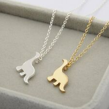 Silver/Gold Cute Animal Dinosaur Pendant Necklace Women Lady Long Sweater Chain