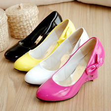 Fashion Women's Shoes Heart-Shaped Hollow Out Wedge High Heel Pumps AU Size S303