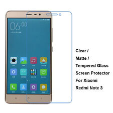 New Tempered Glass / Clear / Matte Film Screen Protector For Xiaomi Redmi Note 3